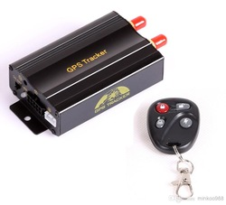 free shipping Wholesale,Vehicle Car GPS Tracker 103B with Remote Control GSM Alarm SD Card Slot Anti-theft/car alarm system(China (Mainland))