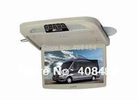 13.3 Inch Flip Down Car DVD Roof Mount DVD Player Flip Down Monitor Games IR USB SD FM Free Shipping For Retail/Pcs