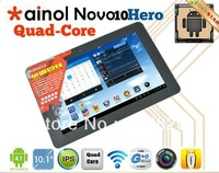"Ainol hero II novo 10 quad core tablet pc 10.1"" IPS 1280x800 android 4.1 1GB RAM dual cameras WIFI HDMI"