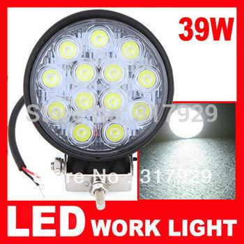 1pcs/lot Round 39W Led Work Light Black 6000K 39W Work Light 10~30V Fog light For SUV ATV Off-road Truck