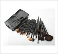 32 PCS Professional Cosmetic Make up Brush Power Brush Natural Leather Brush Set