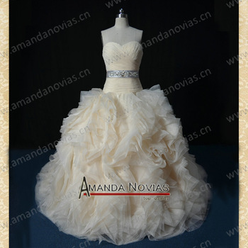 2013 Newest Designer Model Amanda Novias Collection Actual Wedding Dresses VS40