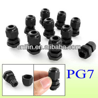 100pc/lot PG7 IP67 3-6.5mm Cable Waterproof Plastic Connector Glands