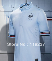 Free Shipping thailand quality 13/14 France Away High quality football jersey soccer jersey