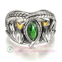 Free Shipping R1 Lord of the Rings LOTR Aragorn's Ring of Barahir Mens 7-13
