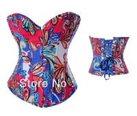 Wholesale Mult Ccolored Denim Corset Women's Corselet  Cheap price Drop Shipping