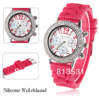 silicone watch Genius First jelly watch Luminous Quartz Analog Watches for Women with Numerals Hour Marks Round Dial