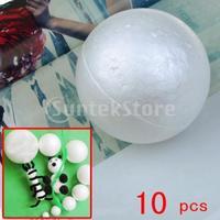 Free Shipping 10 x White Christmas Modelling Craft Polystyrene Foam Ball Sphere 10cm