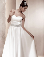 Listen ! Smelling... Yesterday Once M......A-line Princess Strapless Floor-length Satin Wedding Dress inspired by Kate Middleton