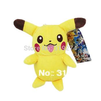 "Wholesale/Retail Free Shipping FS Pokemon Pikachu 18cm/7"" Plush Soft Toy Doll Baby Figure"