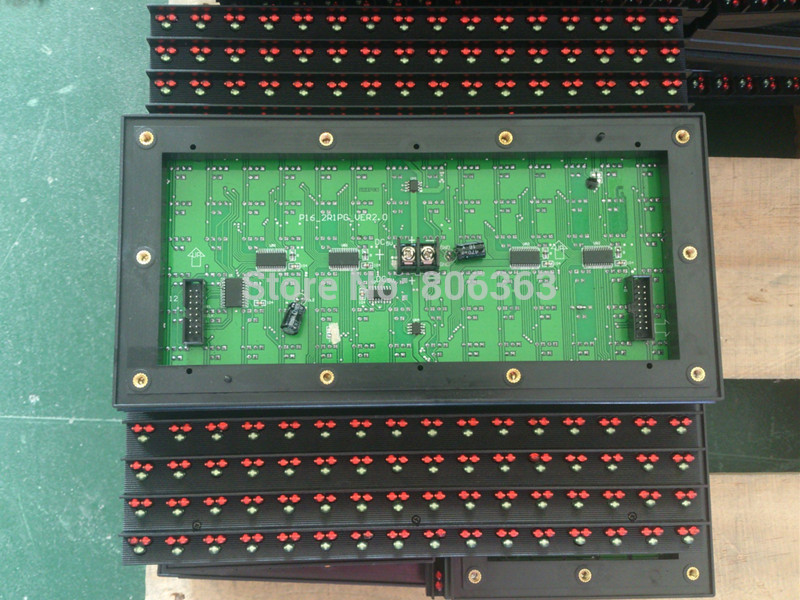 Outdoor P16-2R1B Double Color LED Display Module, Red+Blue P16 Double color LED Module(China (Mainland))