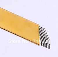 Free Shipping 100pcs 3D eyebrow Disposable tattoo needle for manual Pen -TP