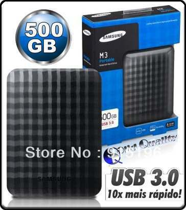 "NEW Samsung M3 500GB 2.5"" USB3.0 Portable Hard Drive HDD Black External 500GB Free Shipping(China (Mainland))"