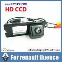 Night vision CCD Car backup camera for Renault fluence waterproof car parking camera Auto car rear camera