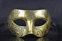 Free shipping glod Roman Greek for Mens Halloween Costume masquerade masks venetian