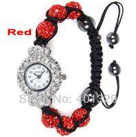 FREE SHIPPING! Wholesale Shamballa Bracelet Watch 3pcs/lot gift battery