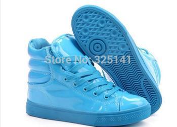 fluorescent Цвет candy Цветed patent leather Повседневный shoe sportsshoes Skateboarding ...
