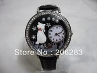 TW-1012 quartz watch 3D cat watch DIY Handmade women watch
