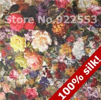 Spring 2013 roses printed silk cloth female dress cheongsam women's large garment fabric