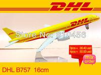 :400 16cm Airplane Model DHL Air Airlines Boeing B757 Airway Aircraft Jetliner Alloy Plane Model Diecast Souvenir