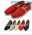 Fashion Flat Casual Canvas Shoes Mix color Unisex Classic Canvas Shoes Plain Casual Sneakers + Free Shipping(China (Mainland))