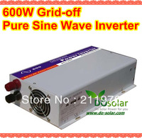 Free shipping--600W pure sine wave inverter,DC12V to AC220V european version of high quality for solar power system in stock
