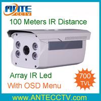 700TVL Effio-E Sony CCD long range IR Array 100M LED Night Vision Outdoor HD CCTV Camera OSD Menu With Bracket
