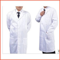 Free Shipping Male Thicken  White work wear medical white coat long-sleeve nurse clothing DC012