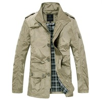Men's coat,fashion clothes,spring and autumn overcoat,outwear,Free shipping