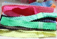 32pcs/lot shimmery soft stretchy lace hair accessory free shipping foe elastic headbands  fashion baby headbands wholesale
