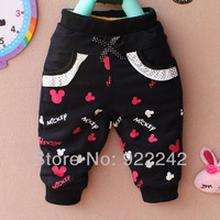 free shipping Spring 2013 on a new brand children's wear private cotton cartoon pants, leisure and lovely