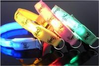 Free Shipping  Cartoon Flashing glowing LED Dog Pet Collar Lead Adjustable for Small Medium Dogs