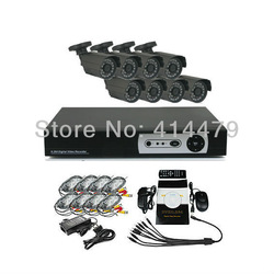 8 Channel DVR Home Security Surveillance Camera System With 8 Warterproof Outdoor IR CCTV(China (Mainland))