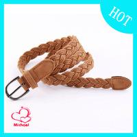 Autumn and winter pin buckle fashion hemp rope knitted belt women's belt strap female belt decoration belt