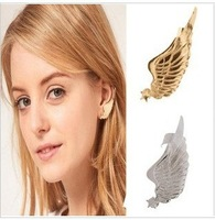 ES179  Wholesales Fashion Exaggeration Wing ear cuff earring Jewellry Accessories AAA!!! Free shipping