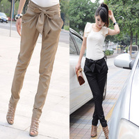New 2014 Fashion Sexy Women Skinny Long Trousers OL Casual Slim Fit Bow Harem Pants #L034630