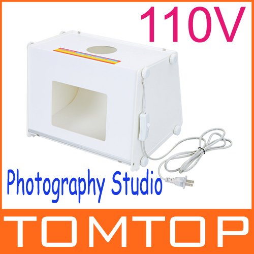 "Professional Portable SANOTO 12""x8"" Mini Kit Photo Photography Studio Light Box Softbox MK30 Free Shipping(China (Mainland))"