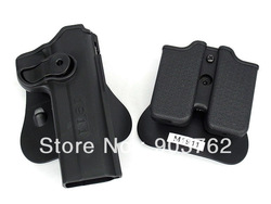 IMI Style Colt 1911 RH Pistol &amp; Magazine Paddle Holster =Black(China (Mainland))