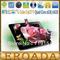 9.7inch Cube U9GT5 U9GT V Quad Core tablet pc RK3188 1.6GHz Retina Screen 2048x1536px 2GB RAM 16GB ROM Android 4.1 Dual Camera