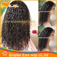 hotsale:100 human hair indian remy hair water wave lace front wigs,1B color density 120% 10-24inch