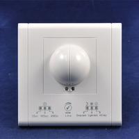 LED AC220V 50Hz 3secs-4mins Time Setting Fluorescent Lamp LED Lighting Wall Munted Type Microwave Radar Sensor Switch