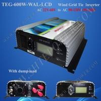 24v 48v Wind Turbine Inverter 600W Grid Tie Inverter, 220v, 230v, 240v ac output,  Pure Sine Wave Inverter
