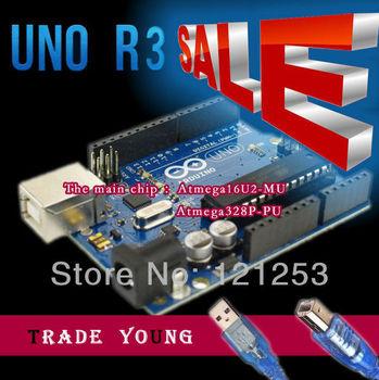For Arduino UNO R3 ATMEGA328P ATMEGA16U2 + 1PCS USB Cable for Arduino Special promotions