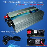 300w Wind Turbine Generator Grid Tie Wind Inverter 22-60v input to ac 120v/230v switch
