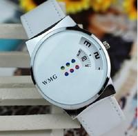 2013 Trigonometric Swivel Plate LED Watch Lovers Fashion Watches No Digital Pointer Ladies Watches ,Women Dress Watches ML0529