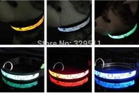 Wholesale Free shipping  LED Dog Collar Nylon Webbing LED Dog Collar Electronic Flashing  Dog Collar