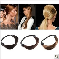 2013 in popular Bohemian simple pigtails  wig inhaul cable   elastic hair band   Mixed color in 50 pieces a bag Free Shipping