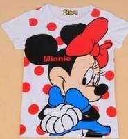 Women cartoon new minnie girl short-sleeve 100% cotton t-shirt lady t shirt