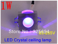 Crystal smallpox 1 w led lens full color led lamp lights sitting room background wall lamp 85-265V+With power+free shipping