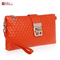 Free Shipping Genuine Leather Clutch Bag 2013 Fashion Women's Handbag Messenger Bag women's Day Clutches 9 Colours